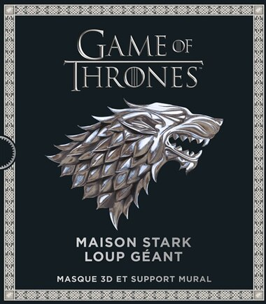 Game of Thrones : Maison Stark Loup géant : Masque 3D et support by COLLECTIF