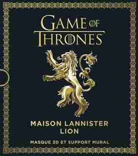 Game of Thrones : Maison Lannister Lion : Masque 3D et support m by COLLECTIF