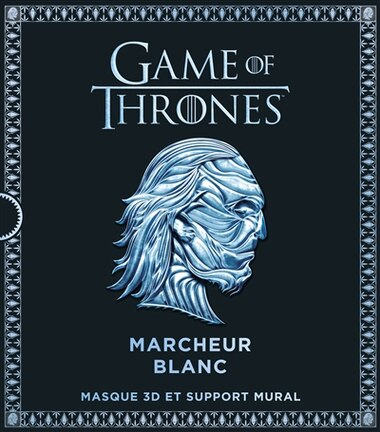 Game of Thrones : Marcheur Blanc : Masque 3D et support mural by COLLECTIF