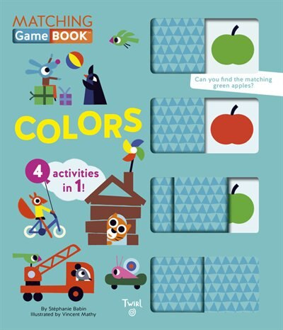 Colors Matching Game Book: 4 Activities In 1! by Stephanie Babin