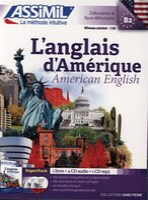 Anglais D'amérique  SANS PEINE  LIVRE+CD (4) + Mp3 ASSIMIL