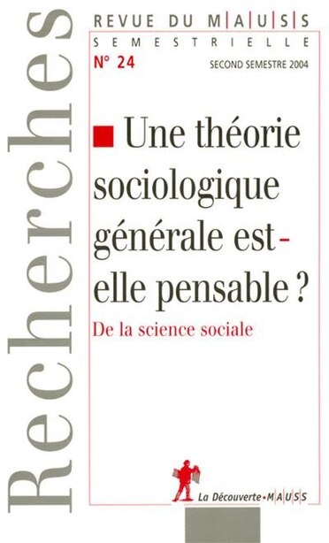 THEORIE SOCIOLOGIQUE GENERAL...#24 by COLLECTIF