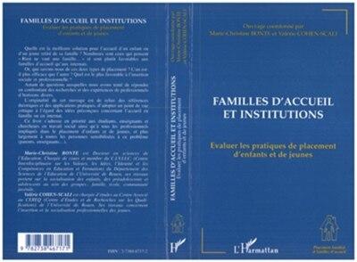 Familles d'accueil et institutions by Marie-Christine Bonte