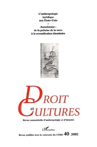 L'anthropologie juridique aux Etats-Unis by Collectif