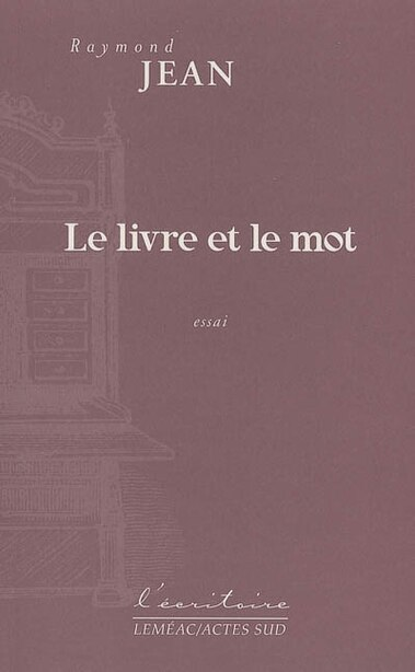 Livre & Mot by Raymond Jean