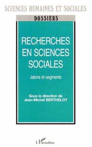 Recherches en sciences sociales by COLLECTIF