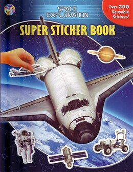 Book Super Sticker Bks Space Exploration by Phidal