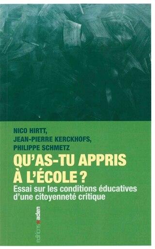 Qu'as-tu appris à l'école? by Nico Hirtt
