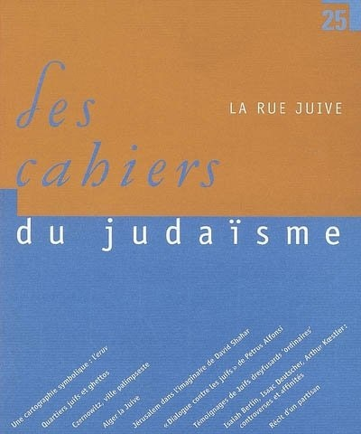 Cahiers du judaïsme, no 25 by COLLECTIF