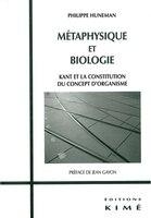 Métaphysique et biologie