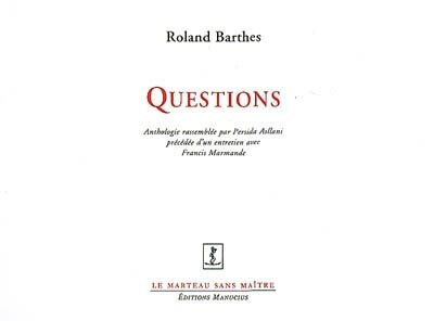 Questions by Roland Barthes