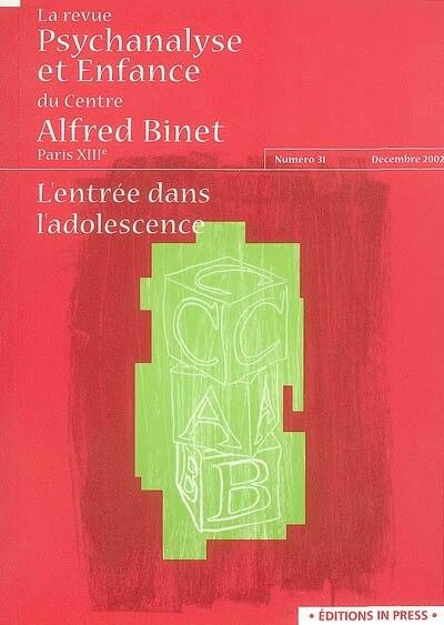 Revue psychanalyse et enfance du centre Alfred Binet, no 31 by COLLECTIF
