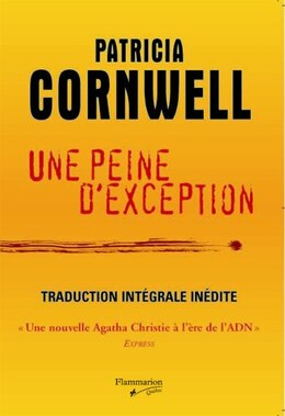 Book Une Peine D'exception by Patricia Cornwell