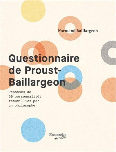Questionnaire De Proust-baillargeon de Normand Baillargeon