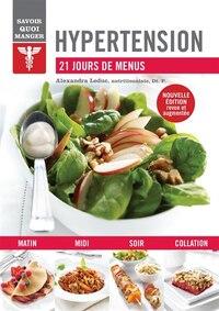 Hypertension 21 jours de menus