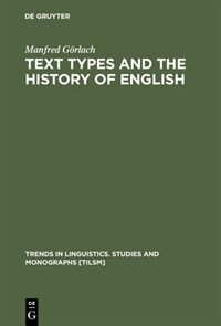 Text Types And The History Of English