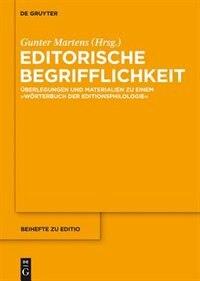 Editorische Begrifflichkeit by Gunter Martens
