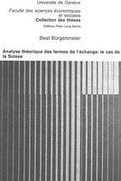 Analyse Théorique Des Termes De L'échange: Le Cas De La Suisse
