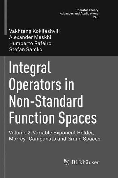 Integral Operators In Non-standard Function Spaces: Volume 2: Variable Exponent Holder, Morrey-campanato And Grand Space: Volume 2: Variable Exponent H by Vakhtang Kokilashvili