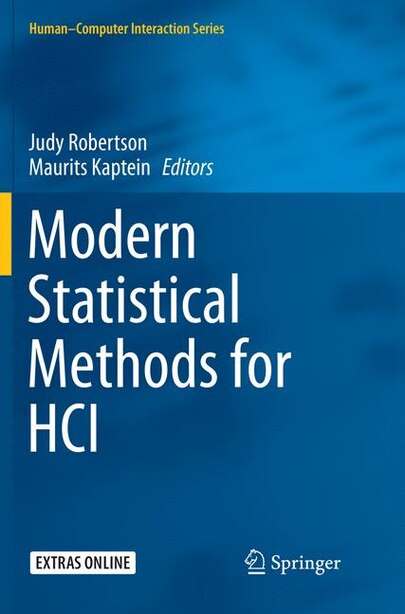 Modern Statistical Methods For Hci by Judy Robertson