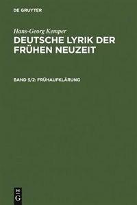 Frühaufklärung by Hans-Georg Kemper