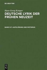 Aufklärung und Pietismus by Hans-Georg Kemper