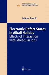 Electronic Defect States in Alkali Halides: Effects of Interaction with Molecular Ions