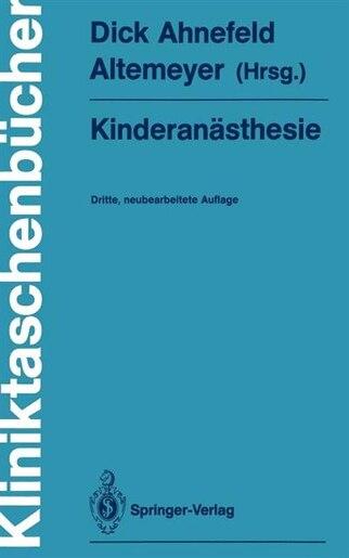 Kinderanästhesie by K.-H. Altemeyer