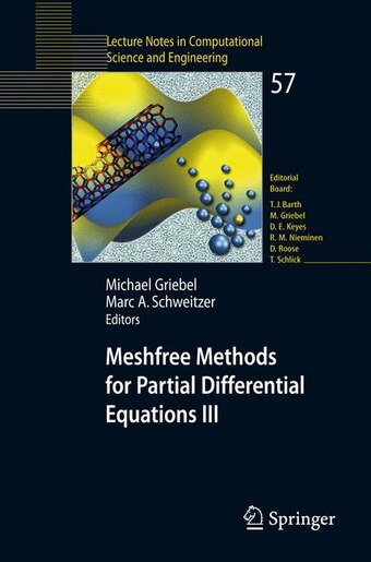 Meshfree Methods for Partial Differential Equations III by Michael Griebel