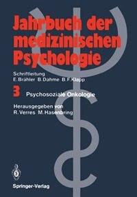 Psychosoziale Onkologie by Rolf Verres