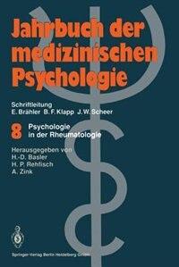 Psychologie in der Rheumatologie by Heinz-Dieter Basler