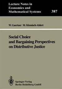 Social Choice and Bargaining Perspectives on Distributive Justice