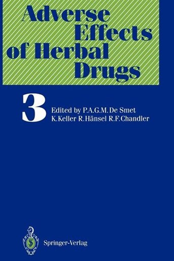 Adverse Effects of Herbal Drugs by G. Abel