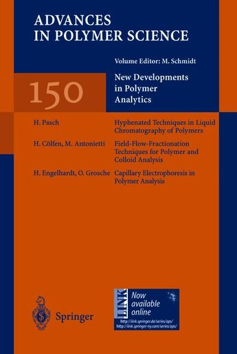 New Developments in Polymer Analytics I by M. Antonietti