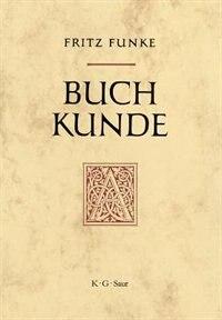 Buchkunde by Fritz Funke