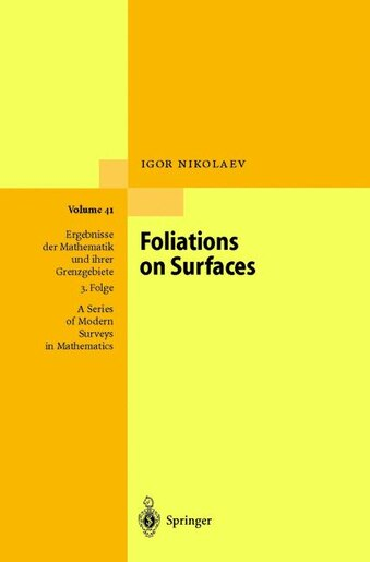 Foliations on Surfaces by Igor Nikolaev