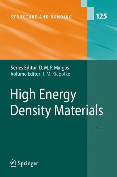 High Energy Density Materials by Thomas M. Klapötke