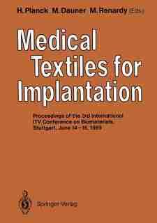 Medical Textiles for Implantation by Heinrich Planck