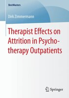 Therapist Effects on Attrition in Psychotherapy Outpatients