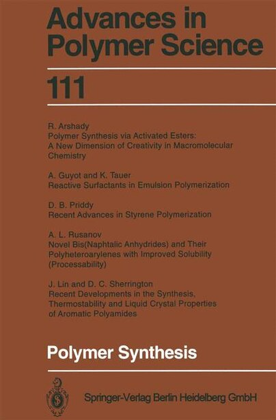 Polymer Synthesis by R. Arshady