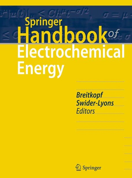 Springer Handbook Of Electrochemical Energy by Cornelia Breitkopf