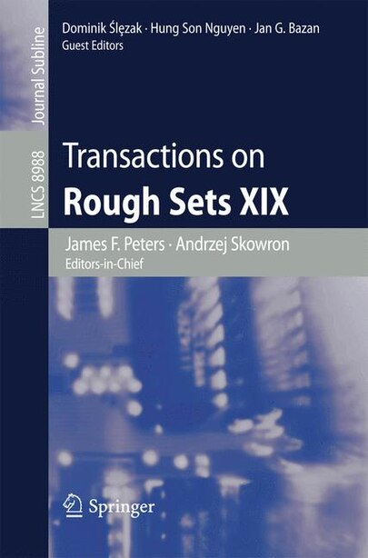 Transactions On Rough Sets Xix by James F. Peters