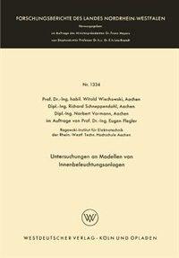 Untersuchungen an Modellen von Innenbeleuchtungsanlagen by Witold Wiechowski