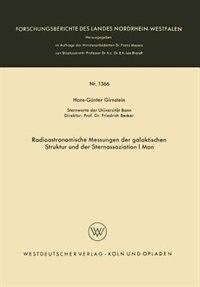 Radioastronomische Messungen der galaktischen Struktur und der Sternassoziation I Mon by Hans-Günter Girnstein