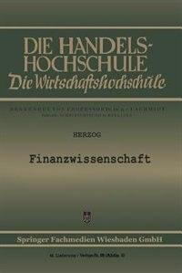 Finanzwissenschaft by Richard Herzog