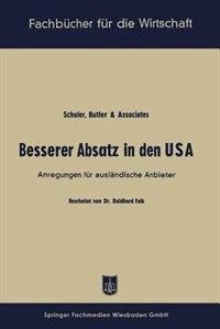 Besserer Absatz in den USA: Anregungen für ausländische Anbieter by Baldhard Falk