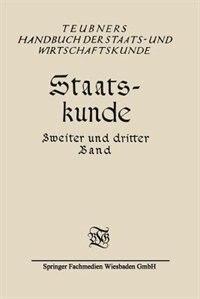 Staatskunde by G. Bäumer