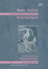 Vom Sozialstaat Zur Wohlfahrtsgesellschaft?: Akteure Zwischen Pflicht Und Engagement by Ansgar Klein