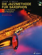 Jazz Method for Soprano/Tenor Sax Book/CD: (German)