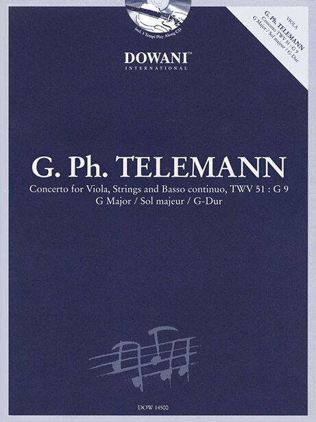 Telemann: Concerto for Viola, Strings and Basso Continuo TWV 51:G9 in G Major by Leonid Leibowitsch